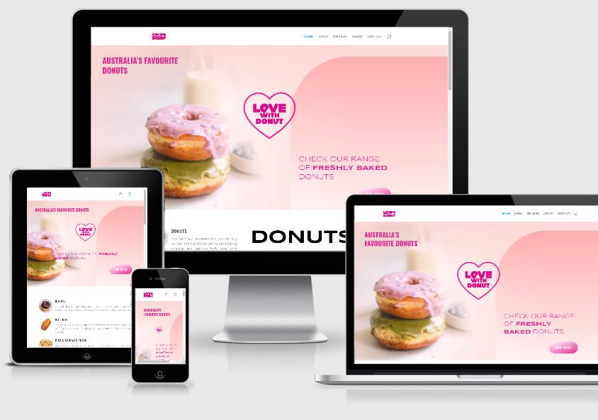 Website Development – Love With Donut